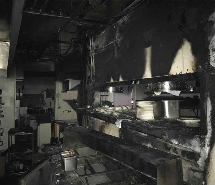 Commercial kitchen fire damage